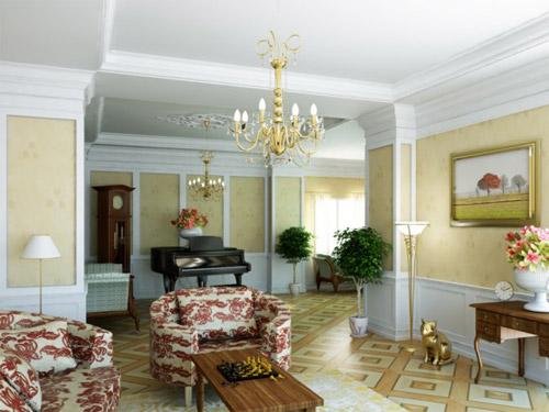 6 mẫu phòng khách mang phong cách cổ điển
