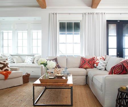 Cách dọn dẹp đồ phòng khách chống nóng ngày hè