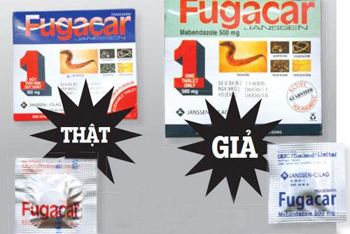 Cách phân biệt thuốc giun Fugacar giả đang được bán tràn lan trong hiệu thuốc