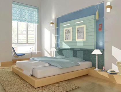 Chọn nội thất cho phòng ngủ thấp sàn