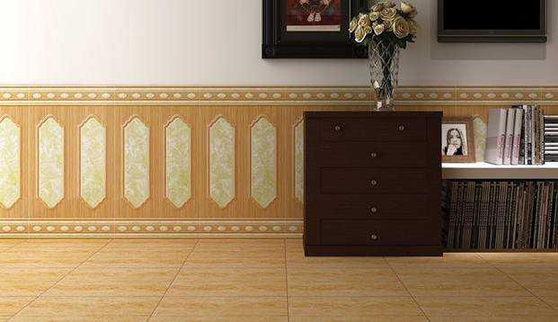 Chọn và sử dụng gạch ốp chân tường cho phòng khách