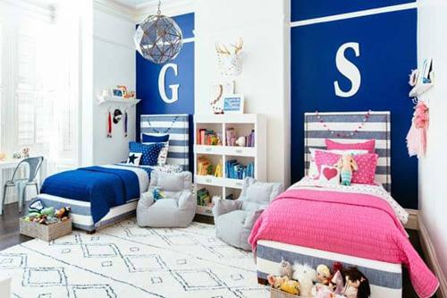 Giải pháp bố trí phòng ngủ chung cho bé trai và bé gái