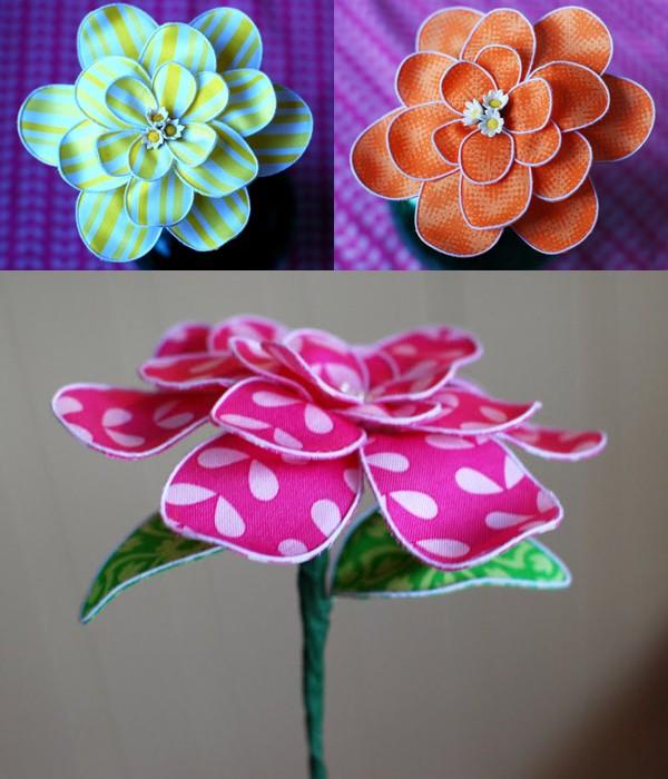 Khéo tay làm hoa vải trang trí tết đẹp cho nhà bạn