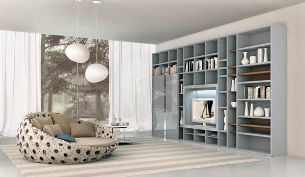 Không gian tối giản gọn gàng cho phòng khách