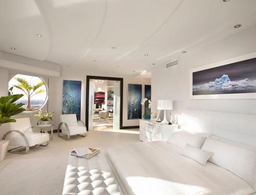 Mẫu sofa trắng đơn giản mà tuyệt đẹp cho phòng ngủ