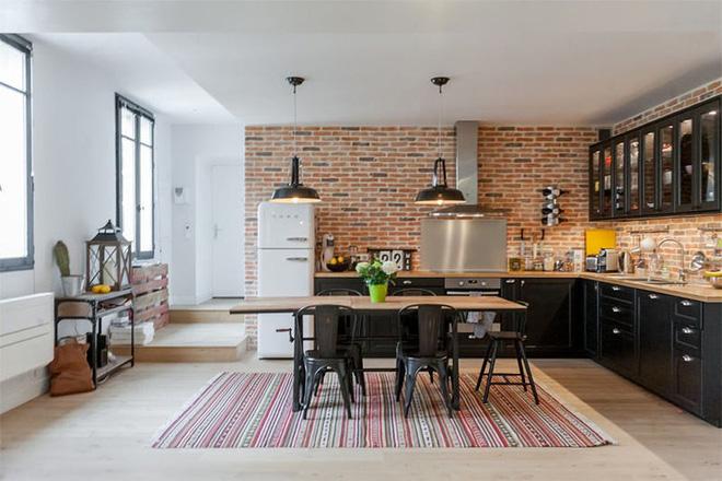 Những căn bếp đẹp có thiết kế theo phong cách công nghiệp