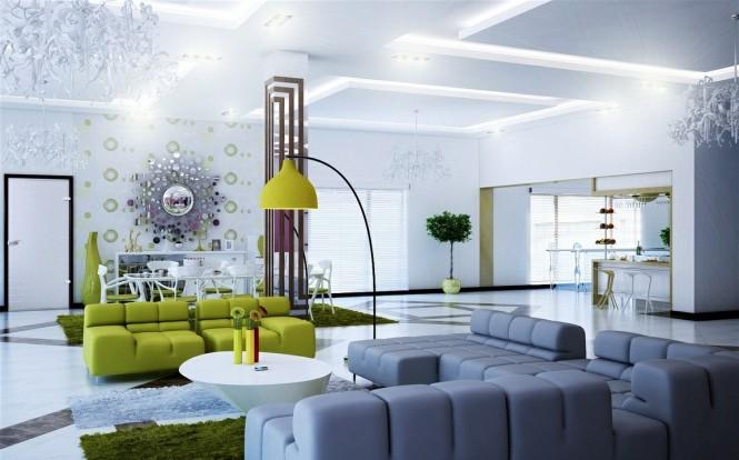 Những gam màu tự nhiên đầy tinh tế cho phòng khách