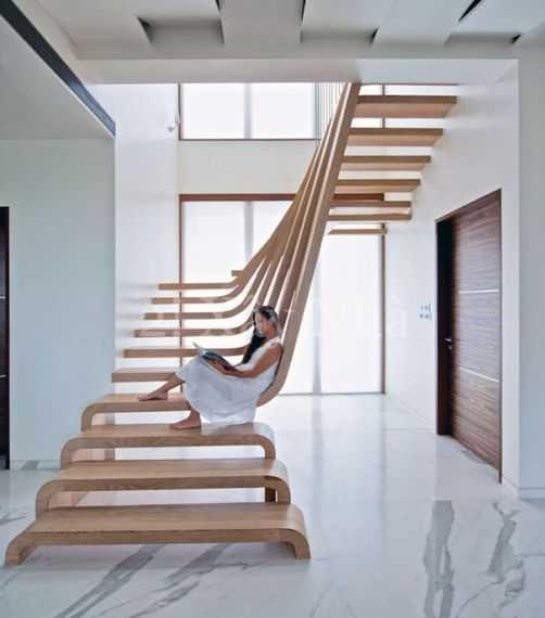 Những mẫu cầu thang độc đáo cho phòng khách năm 2017