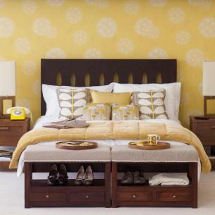 Những mẫu giấy dán tường cho phòng ngủ mùa xuân