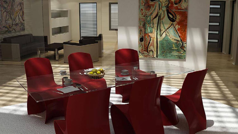 Những mẫu nội thất phòng khách kết hợp cùng phòng bếp