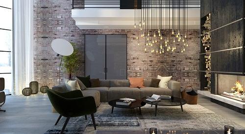 Phòng khách nổi bật và ấn tượng hơn với đèn trang trí