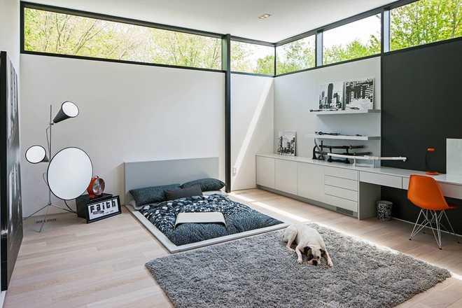 Phòng ngủ đẹp hiện đại không sử dụng giường