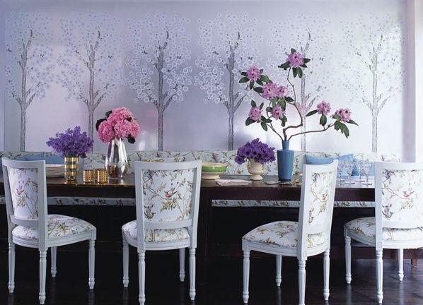 Sử dụng giấy dán tường để trang trí nội thất trong nhà