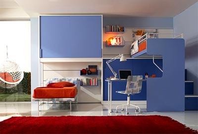 Trang trí phòng ngủ công nghiệp cho trẻ