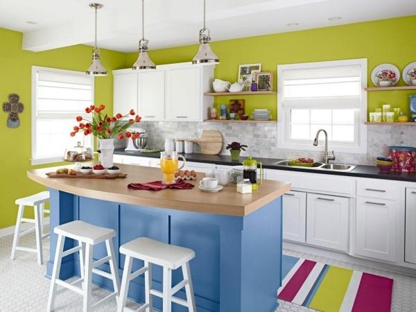 Tuyển tập những gam màu giúp bếp nhỏ luôn thoáng đãng