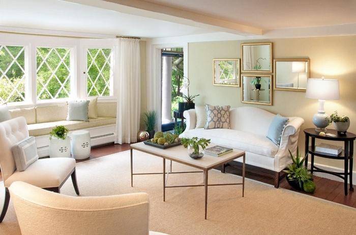 Ý tưởng bố trí gương cho phòng khách thêm sang trọng