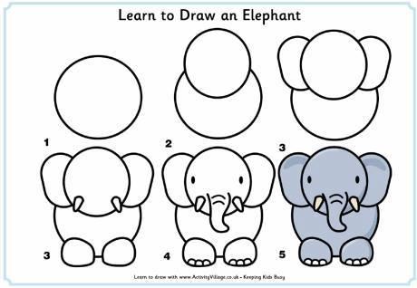 Cách vẽ nhiều con vật đơn giản dễ thương cho bé tô màu