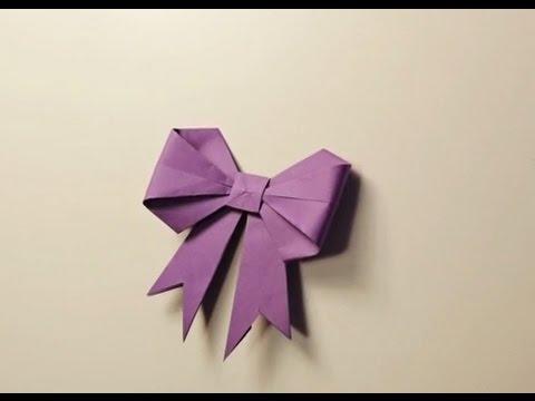 Cách xếp giấy hình nơ đẹp và đơn giản
