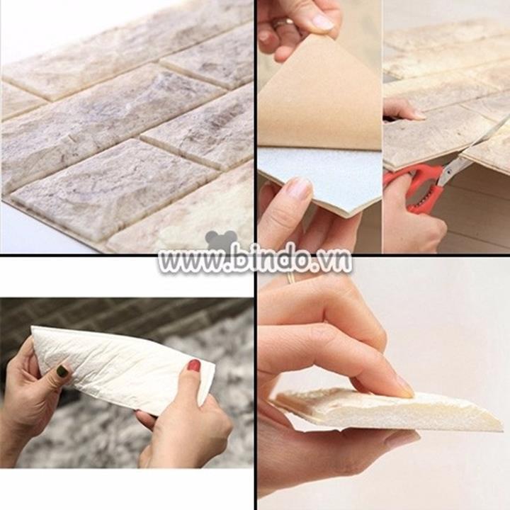 Để thi công xốp dán tường đẹp bạn nên làm theo các bước