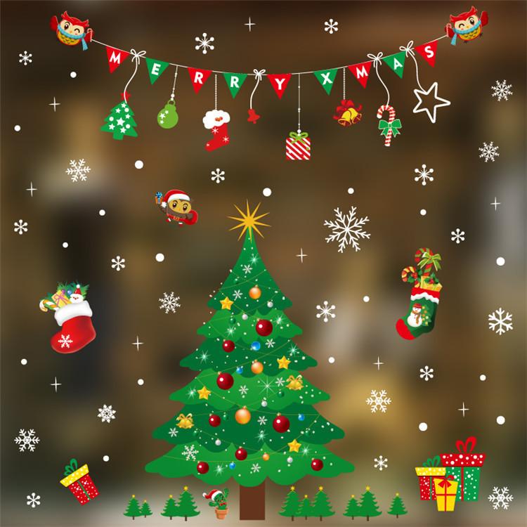 Decal dán kính họa tiết cho mùa Noel 2018