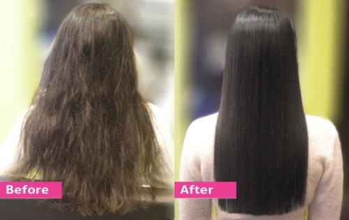 Duỗi tóc thẳng tự nhiên không cần kẹp.