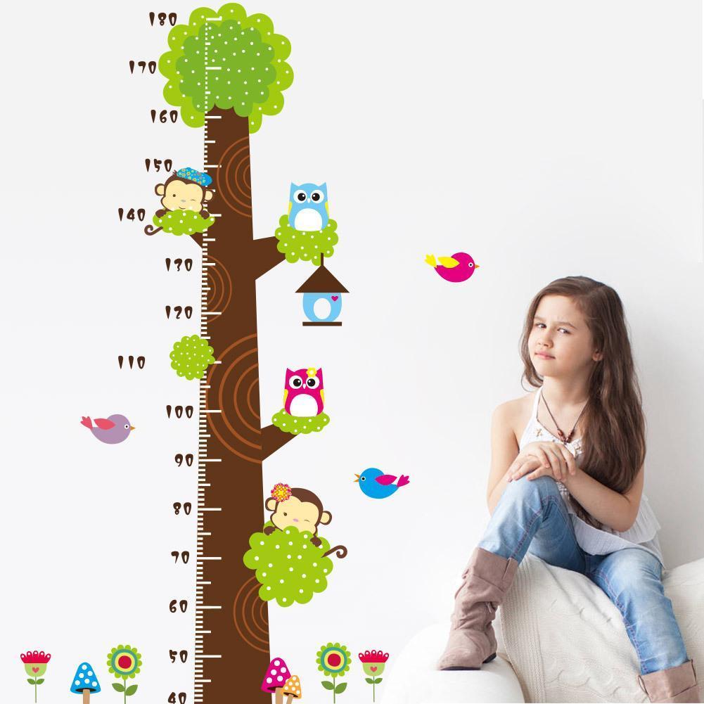 Giấy dán tường thước đo chiều cao cho bé tiện lợi