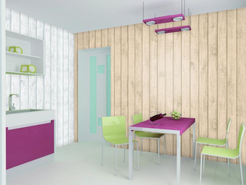 Giới thiệu giấy dán tường vân gỗ trang trí nội thất