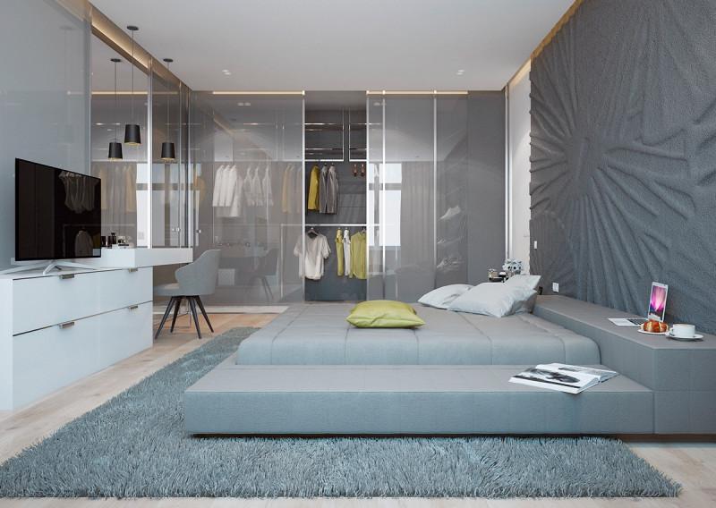 Mẫu phòng ngủ có thiết kế lưu trữ đẹp không góc chết