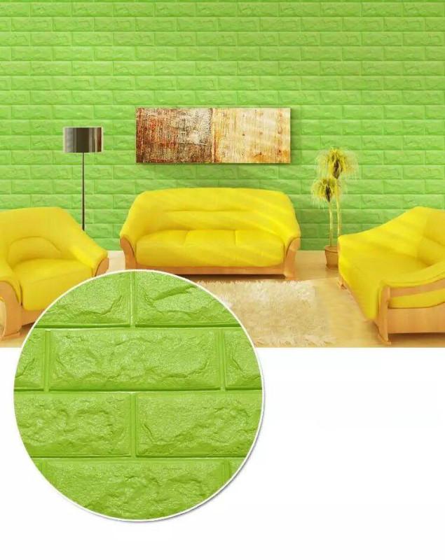 Mẫu xốp dán tường thiết kế lạ cho phòng khách